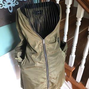 Jackets & Blazers - Army green oversized bomber jacket